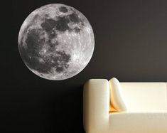 Moon Phases Wall Decal Moon Phase Decor Celestial Wall Art   Etsy Kids Room Wall Stickers, Wall Decals, Wall Art, Tree Design On Wall, Wall Design, Halloween Design, Halloween Party Decor, Yeti Stickers, Phone Decals