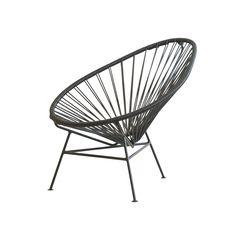 OK Design Aps OK Design - The Acapulco Mini Chair, schwarz Schwarz T:25 H:62 B:70