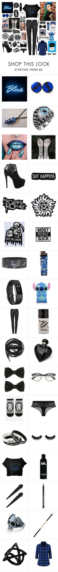 """""""Weekend clothes"""" by frankie-and-gee ❤ liked on Polyvore featuring Nature Girl, Iron Fist, Hot Topic, Fitbit, Urbanears, Lipsy, Studio Ghibli, Simone Perele, NYX and Kasun"""