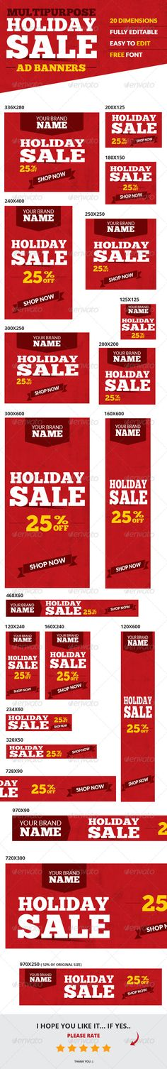 Holiday Sale Web Ad Banners Template PSD | Buy and Download…