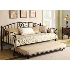 $229.99 on sale - Metal Daybed w/Trundle (price good 8/31 - 9/10) from Big Lots.  Mattresses and bedding not included, of course.  Man!  I wish the mattress was included...lol.