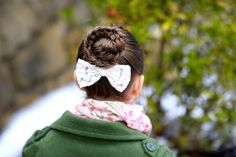 Twisted Edge Fishtail Bun #fishtail #braid #cutegirlshairstyles #hairstyles #ponytail #bun