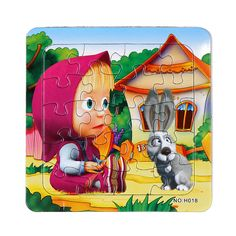 3D Paper jigsaw puzzles toys for children kids toys brinquedos Masha and Bear Princess educational Baby toys Puzles Puzzel 3D