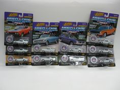 Johnny Lightning Muscle Cars USA Lot of 10 Complete White Lightning Low Chassis #JohnnyLightning