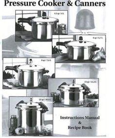 Mirro Pressure Cooker And Canner Instruction Manual Recipe Booklet