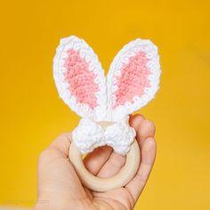 Bunny ears wooden teether | www.1dogwoof.com