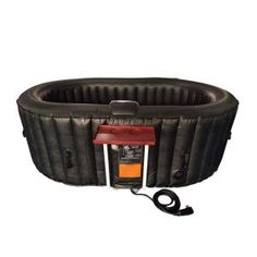 New ALEKO Oval Inflatable Hot Tub Spa With Drink Tray and Cover - 2 Person - 145 Gallon - Black sold by Aleko Products Concrete Resurfacing, Drinks Tray, Shops, Granite Stone, Deep Relaxation, Sit Back And Relax, Interior And Exterior, Living Spaces, Living Area