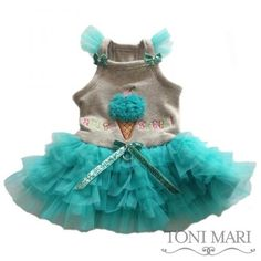 am so sweet ruffled skirt light grey/aqua $71.00