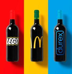 Si les marques célèbres produisaient du vin (image)
