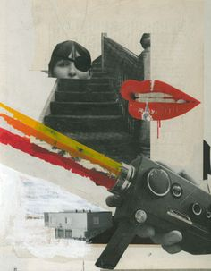 Contemporary pop art  - Mario Wagner Random images collage.