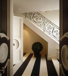 black & white floors