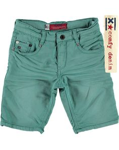 Blue Rebel Short raw sweat denim groen - JongensShort raw sweat denimOCEAN €44,99