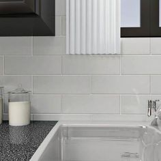 Merola Tile Tessera Grand Subway Ice White 4 in. x 12 in. Glass Wall Tile (6-Pack)-GDM4GSIC - The Home Depot