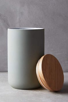 Wood-Topped Canister - anthropologie.com