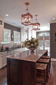 Kitchen: White cabinets, gray walls?