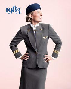 1983 - SAS flight attendant Ellinor Wickbom