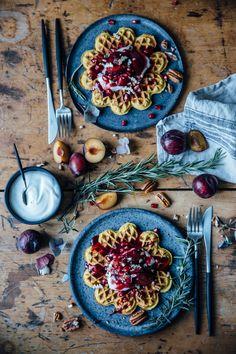 Pumpkin Waffles {GF} | Our Food Stories