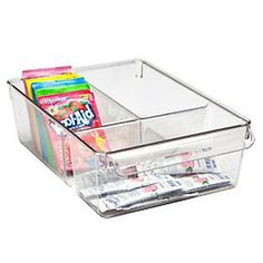 The Container Store > Linus™ Divided Cabinet Organizer
