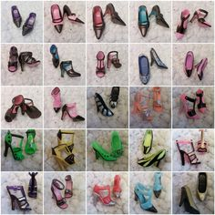 Wholesale price Handpainted Barbie Doll Shoes and by SewTown, $0.50