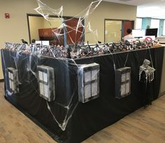 21 best halloween office decor images holidays halloweentransformed my cubicle into a haunted mansion!! decoratedcubicle cubicle decorations halloween