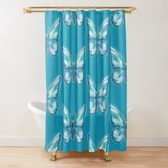 Butterfly Shower Curtain, Turquoise Bathroom, Sell Your Art, Curtains, Printed, Awesome, Shop, Products, Blinds