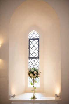 Farnham castle wedding our Warwick candlebra looked great in these bay windows of the ceremony room!