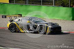 Aston Martin Vantage GT3 at the Roggia chicane of Monza, Blancpain Endurance Series 2015