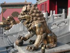 """Chinese guardian lions, known as Shishi lions (Chinese: 石獅; pinyin: shíshī; literally """"stone lion"""") or Imperial guardian lion, and often incorrectly called """"Foo Dogs"""" in the West, are a common representation of the lion in pre-modern China. They have traditionally stood in front of Chinese Imperial palaces, Imperial tombs, government offices, temples, and the homes of government officials and the wealthy, from the Han Dynasty (206 BC-AD 220), and were believed to have powerful mythic…"""
