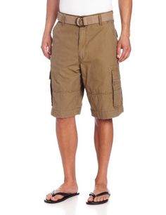 3dcacb13 Levi's Men's Squad Cargo Short, Cimarron, 36 Sits below the waist Extra  room though seat and thigh Falls below the knee; inseam Zip fly with button  closure ...