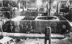 A unfinished protoype Maus tank hull found on a factory floor