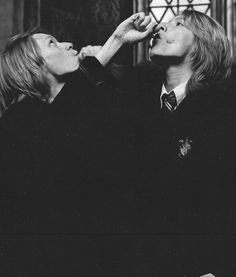 Fred and George Weasley drink the Age Potion - Goblet of Fire
