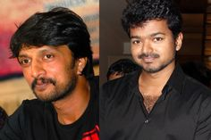Sudeep to act with Vijay in Tamil Movie http://www.bangalorewishesh.com/entertainment-movies-films/376-movie-gossips/36872-sudeep-to-act-with-vijay-in-tamil-movie.html  Kichcha Sudeep will join along with Tamil superstar Illayathalapathy Vijay in their upcoming movie, where both the stars are going to share silver screen for the first time. Sudeep will be playing a brother role of Vijay.