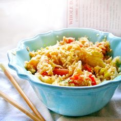 This super healthy alternative to fried rice is rice free, low-carb, and completely vegan. And it tastes sinful!