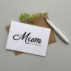 Card for Mum on your wedding day. To my Mum Mom by LoveinaEnvelope