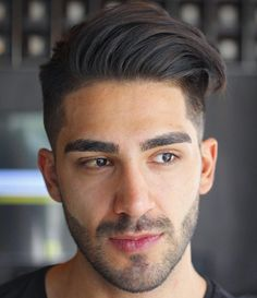 Men's Long Top Short Sides Hairstyle