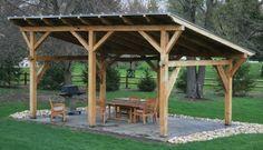 outdoor shelter ideas | Timber Frame Pergolas, Timber Frame Porches & Pavilions, Custom Timber ...