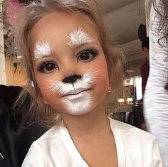 Just when you think you've seen all the cute ways to do cat make-up, along comes another one!  #Halloween #Costumes #HalloweenCostumesForFamily Sherman Financial Group