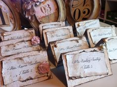 Wedding Tent Card Place card escort card by ShabbyScrap on Etsy, $3.25