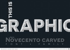 Novecento Carved font family. Two layers, endless possibilities.