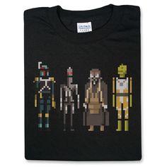 Star Wars Bounty Hunters Pixelated T-Shirt $19.99