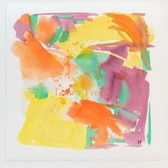 Her jaw dropping gorgeous home will leave you longing for bright bold and beautiful colors. I mean stunning knockout rooms to die for! Abstract Watercolor, Watercolor Paper, Watercolor Paintings, Original Paintings, Original Art, Watercolors, Sorbet, Orange Yellow, Orange Color