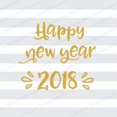 Happy New Year 2018 SVG png pdf jpg ai dxf New Years cut