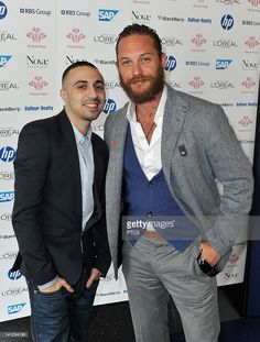 Actors Adam Deacon (L) and Tom Hardy attend The Prince's Trust and L'Oreal Paris Celebrate Success Awards at the Odeon Leicester Square on March 14, 2012 in London, England.