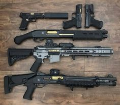 Guess how much these guns cost! Tactical Shotgun, Tactical Gear, Tactical Firearms, Rifles, Custom Guns, Fire Powers, Cool Guns, Awesome Guns, Assault Rifle
