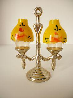 Vintage Lamp Shaped Salt & Pepper Shakers