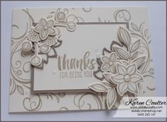 Playing Around with Falling Flowers Bundle – Stampin' Up!   Do Lally Crafts