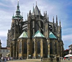 Saint Vitus Cathedral is a Roman Catholic cathedral in Prague.  It is the seat of the Archbishop of Prague.  Coronations of Czech kings and queens also took place here.