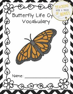 """$ Develop your students' vocabulary skills with tiered vocabulary booklets that match their learning needs! The """"Butterfly Life Cycle Tiered Vocabulary Booklets"""" package contains three different versions of the vocabulary booklet."""