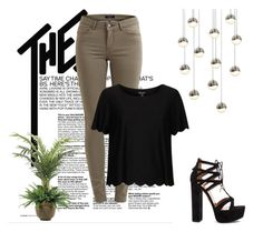 """""""No.1"""" by elmat-92 ❤ liked on Polyvore featuring Topshop, Aquazzura, NDI and Sonneman"""