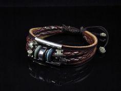 Leather Ropes Men Bracelet